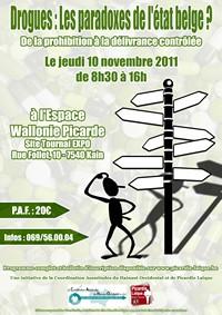 201110210 - Drogues Les paradoxes de l'etat belge