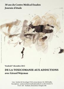 Enaden - affiche colloque 30 ans : de la toxicomanie aux addictions