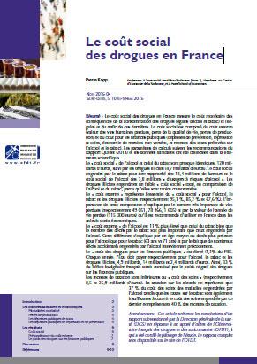 Le coût social des drogues en France - cover