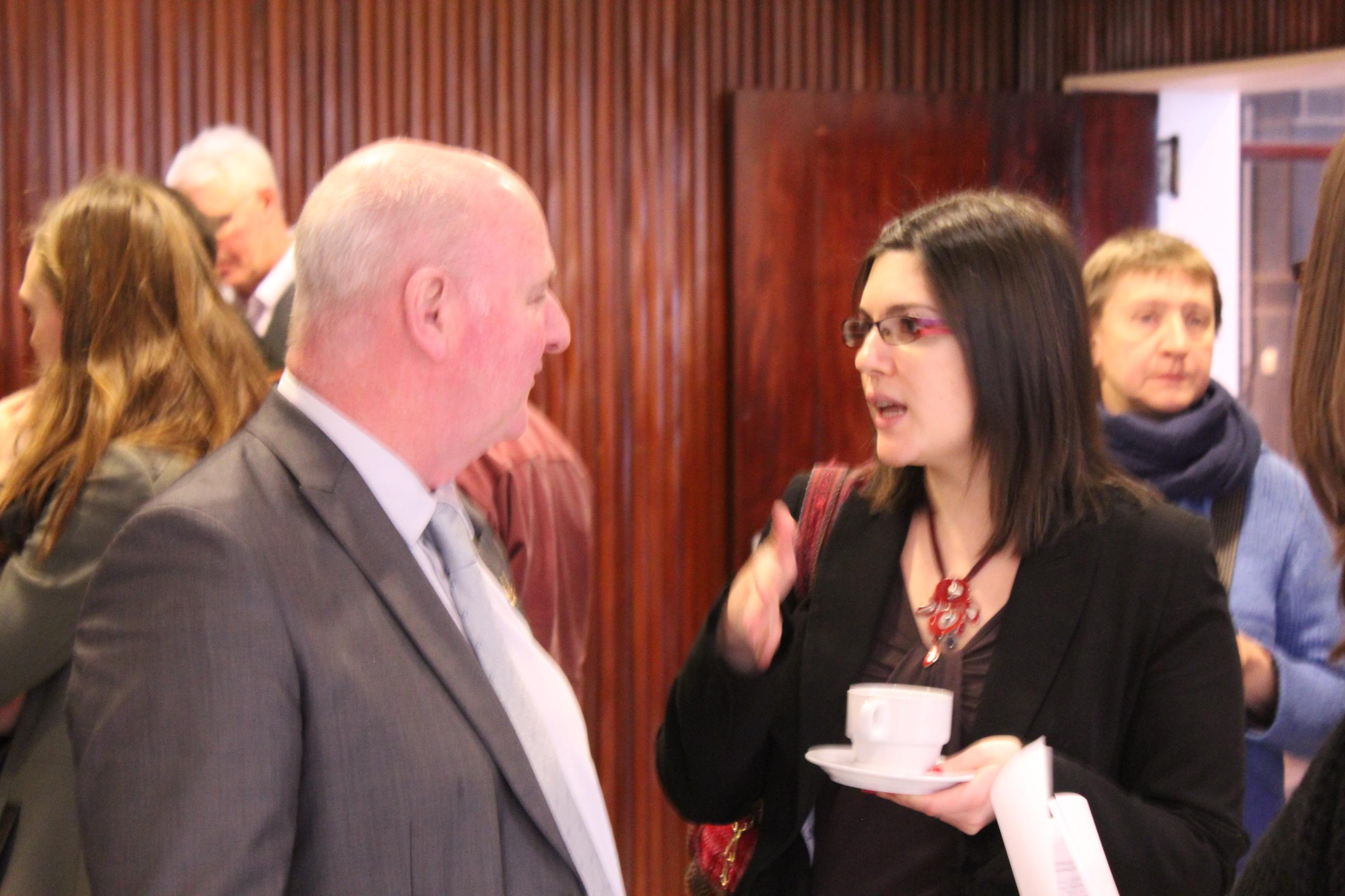 Claude Gillard (SPF Justice)et Marie Nougier (IDPC)